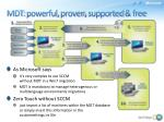 mdt powerful proven supported free