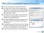 office 2010 compatibility inspector tool ocit