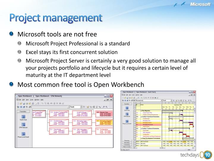 Microsoft tools are not free
