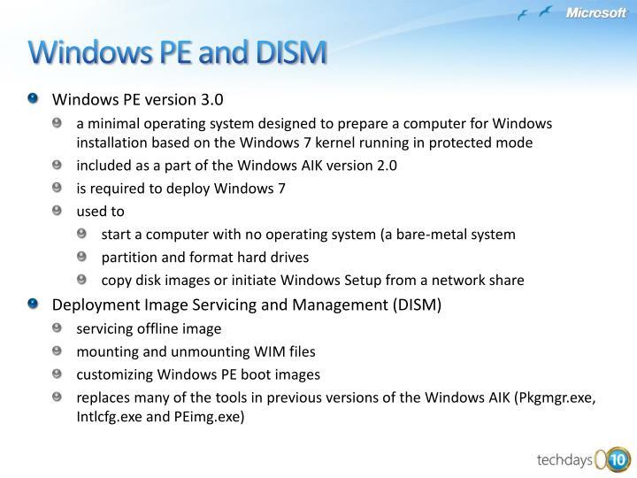 WindowsPE version3.0