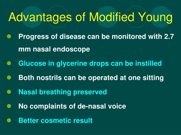 Advantages of Modified Young