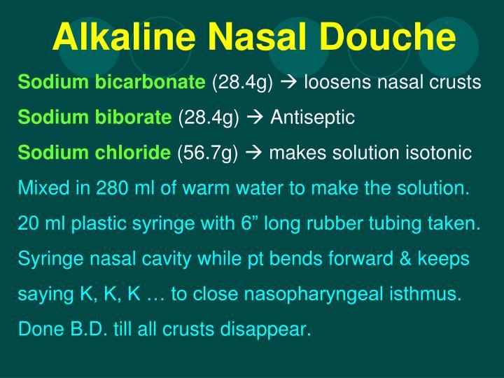 Alkaline Nasal Douche