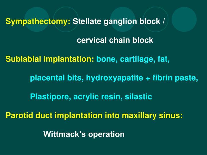 Sympathectomy: