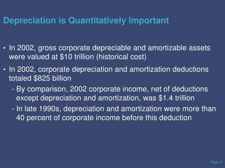 Depreciation is Quantitatively Important
