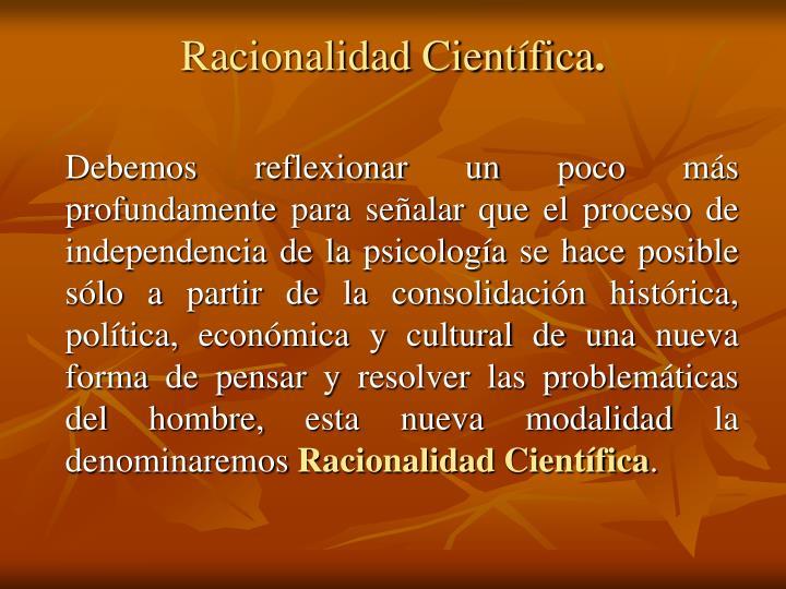 Racionalidad Científica