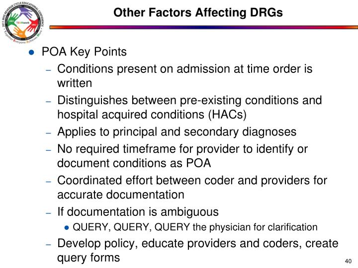Other Factors Affecting DRGs