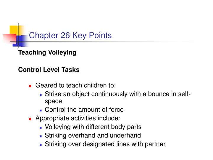 Chapter 26 Key Points