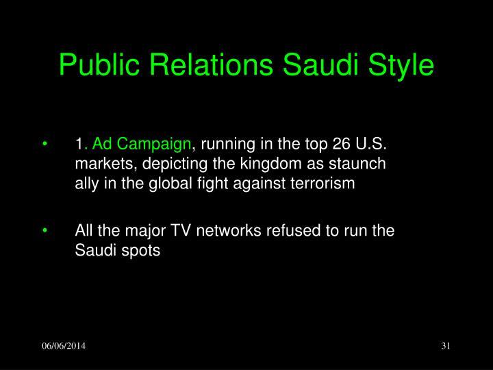 Public Relations Saudi Style
