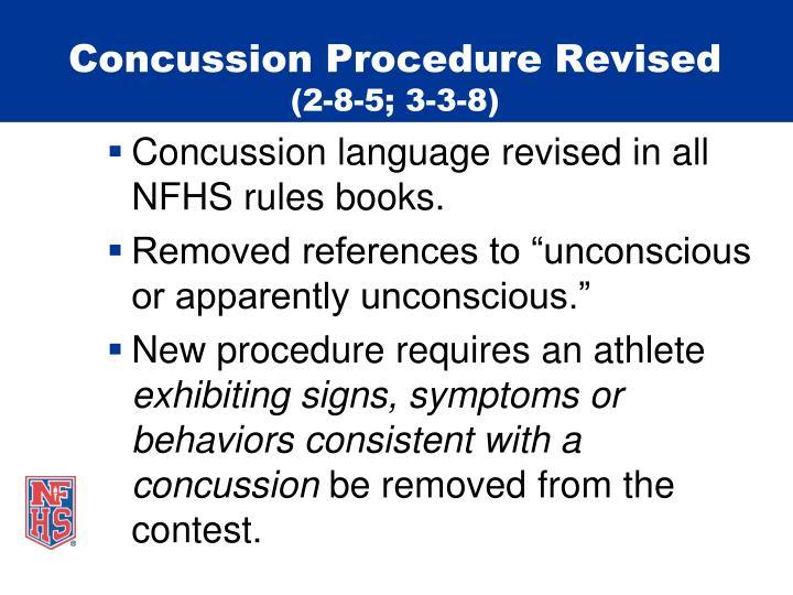 Concussion Procedure Revised