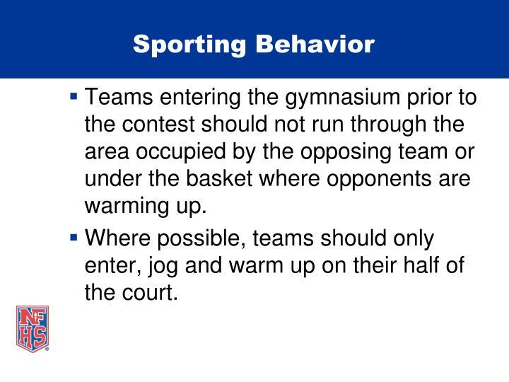Sporting Behavior