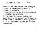 annotation algorithm basic