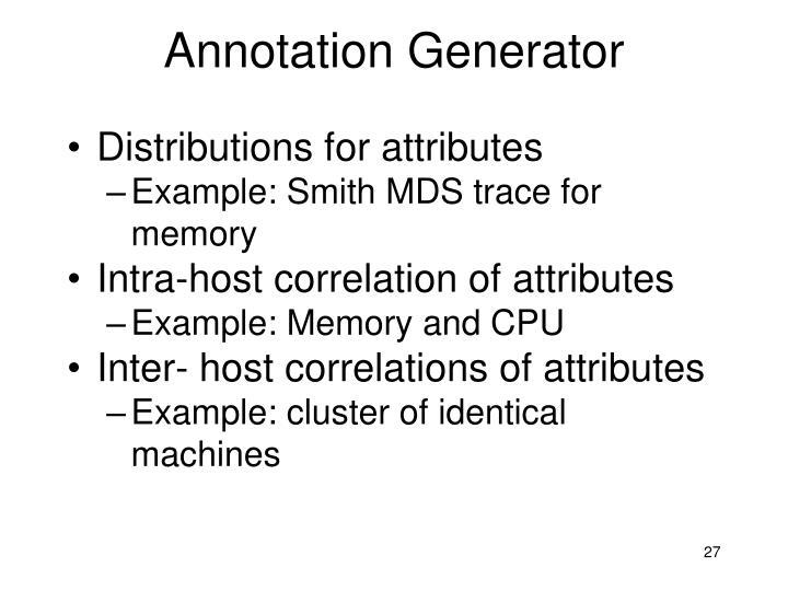 Annotation Generator