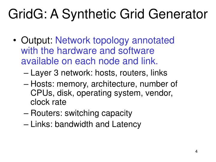 GridG: A Synthetic Grid Generator