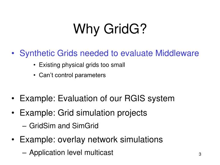 Why GridG?