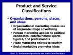 product and service classifications1