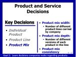 product and service decisions4