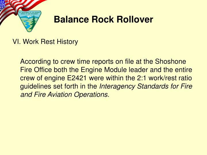 VI. Work Rest History