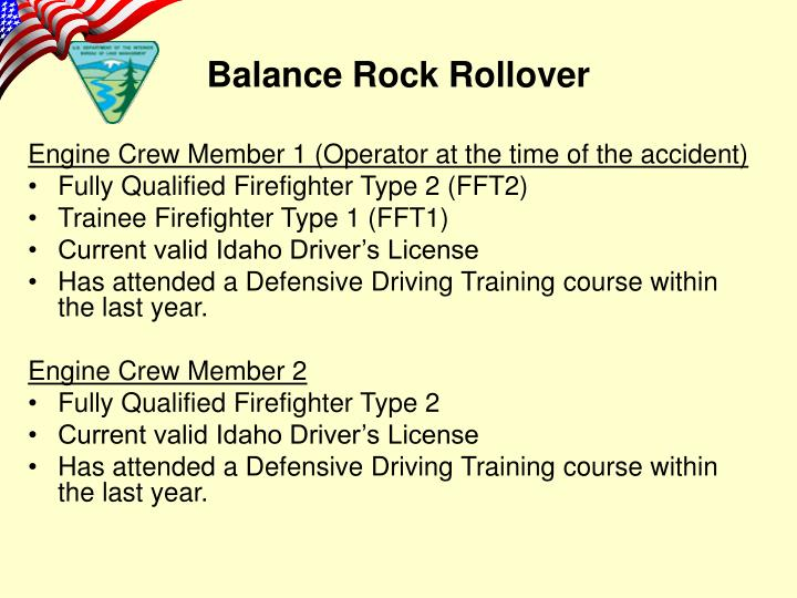 Engine Crew Member 1 (Operator at the time of the accident)