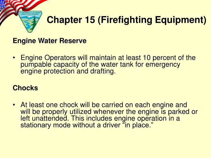 Engine Water Reserve