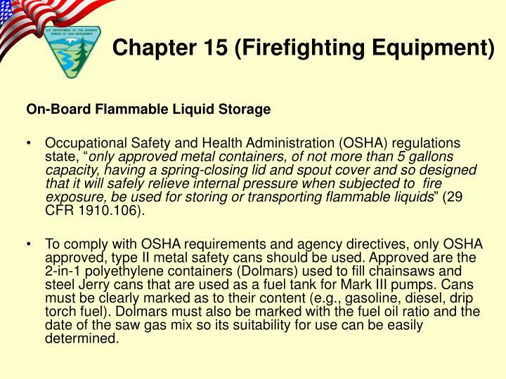On-Board Flammable Liquid Storage