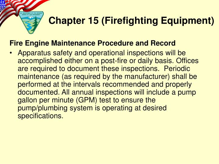 Fire Engine Maintenance Procedure and Record