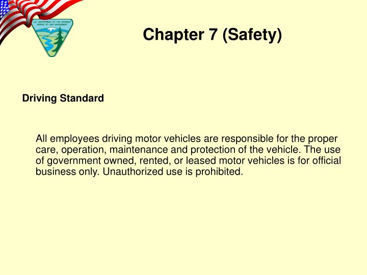 Driving Standard