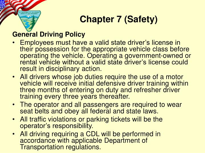 General Driving Policy