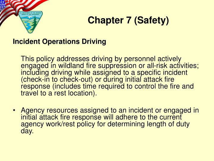 Incident Operations Driving