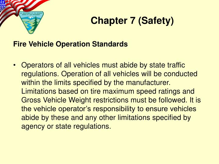 Fire Vehicle Operation Standards