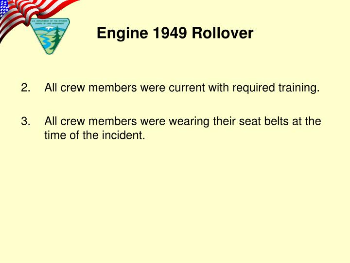 All crew members were current with required training.