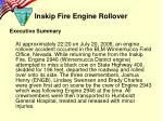 inskip fire engine rollover