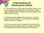 understanding and checking your vehicle2