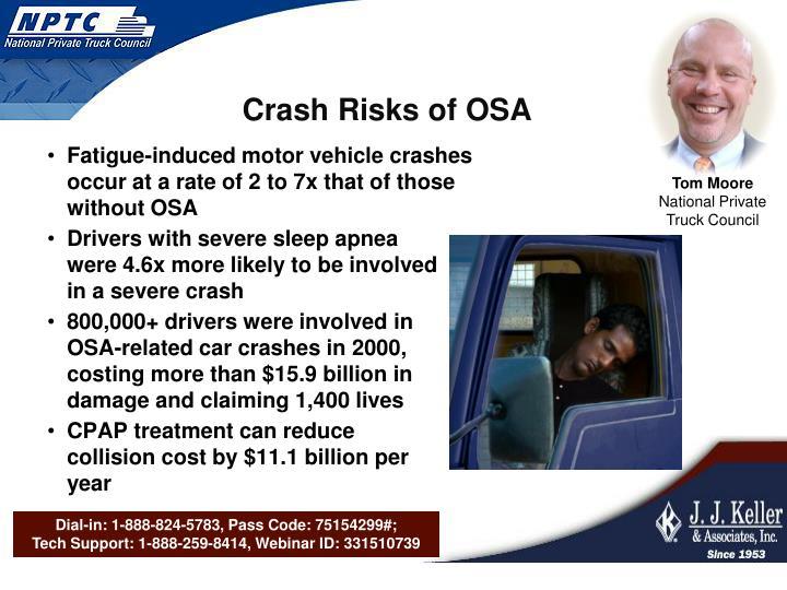 Crash Risks of OSA