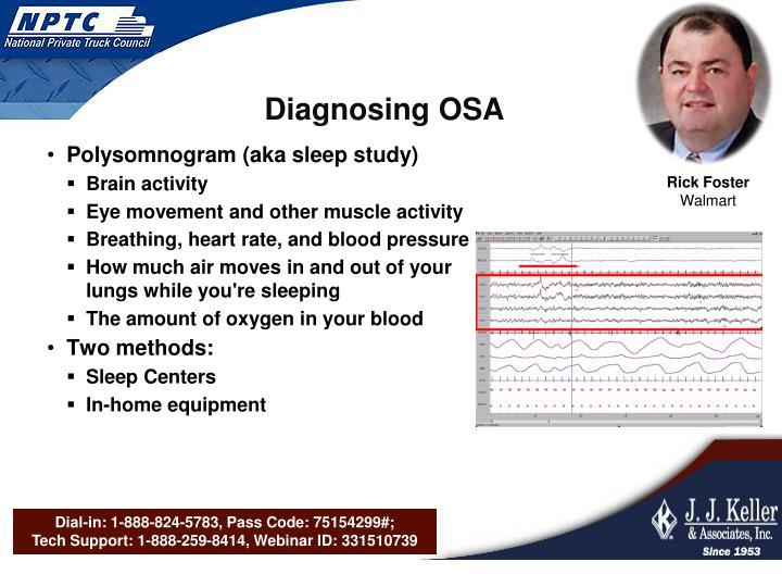 Diagnosing OSA