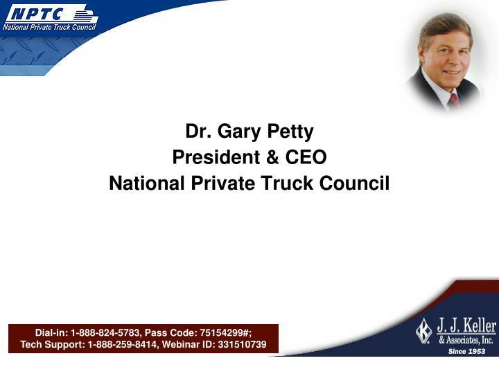 Dr. Gary Petty