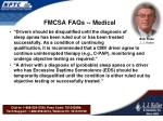 fmcsa faqs medical