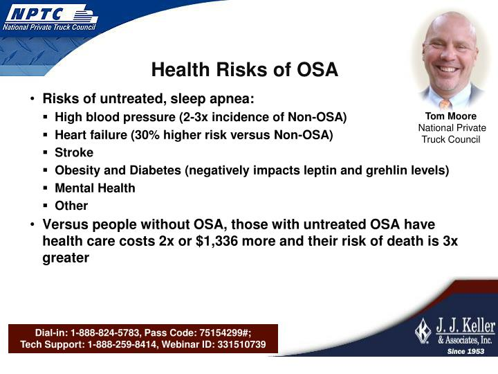 Health Risks of OSA