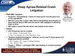 sleep apnea related crash litigation