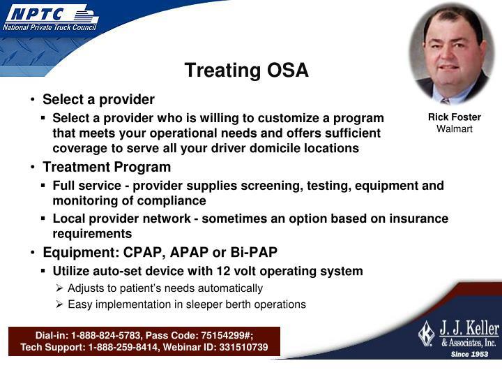Treating OSA