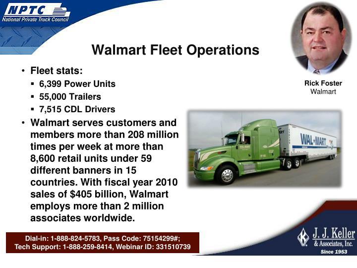 Walmart Fleet Operations
