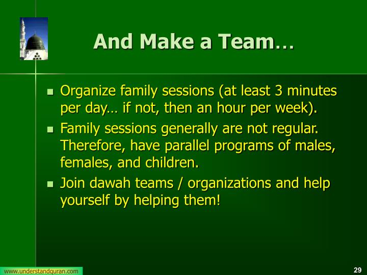 And Make a Team