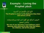 example loving the prophet pbuh