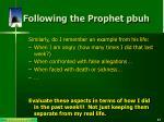 following the prophet pbuh5