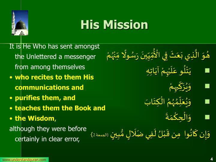 His Mission
