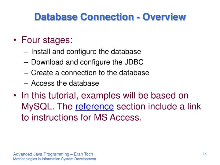 Database Connection - Overview