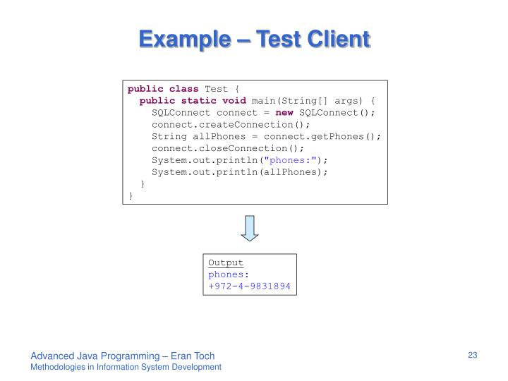Example – Test Client