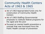 community health centers acts of 1963 1965