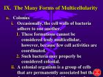 ix the many forms of multicellularity