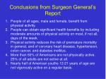 conclusions from surgeon general s report