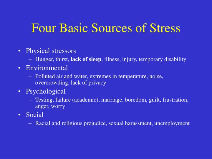 Four Basic Sources of Stress